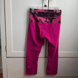 Pink/purple Lululemon reversible crop leggings